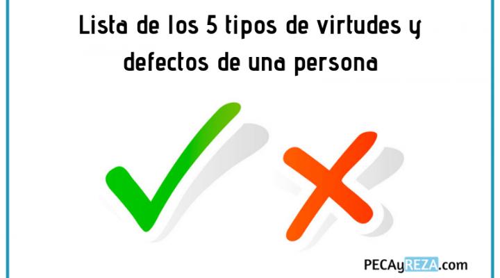 Artículo 5 Tipos de virtudes y defectos de una persona