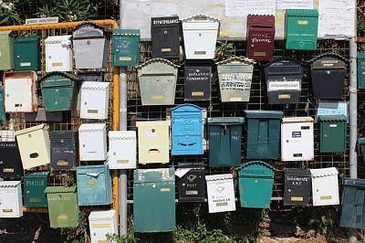 Los buzones eran muy populares cuando el correo de cartas estuviera en su mejor momento.