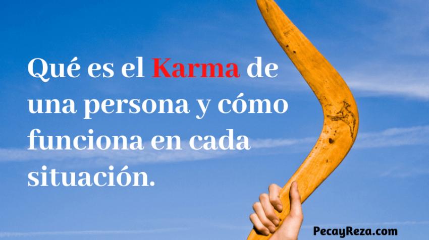 Qué es el karma de una persona y como influye: Portaada de artñiculo sobre el karma. Título del post y en la imagen se presente un boomerang como ícono de lo que es karma, todo se devuelve.